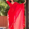 Sunny Leone in Sexy Red Hot And Sexy Saree in Jism 2 (Photo 9 of 121 photo(s)).